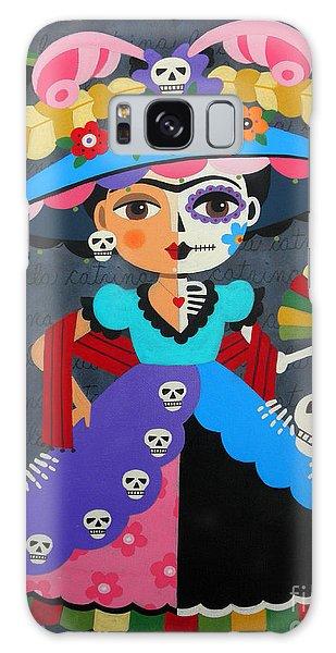 Calavera Galaxy Case - Frida Kahlo La Catrina by LuLu Mypinkturtle