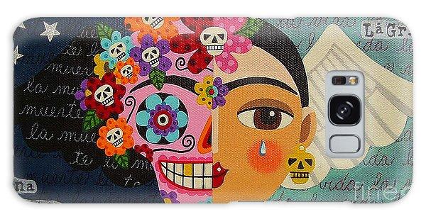 Galaxy Case Featuring The Painting Frida Kahlo Sugar Skull Angel By LuLu Mypinkturtle