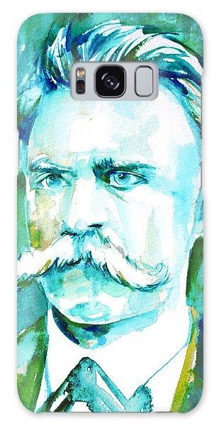 Friedrich Nietzsche Watercolor Portrait.1 Galaxy Case by Fabrizio Cassetta