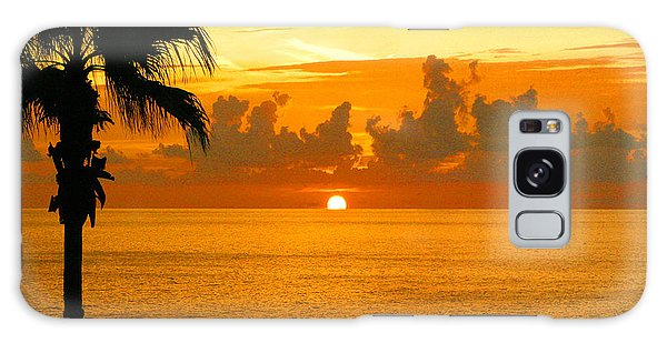 Friends Fishing At Sunset Galaxy Case by Mariarosa Rockefeller