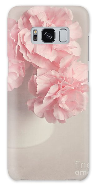 Frilly Pink Carnations Galaxy Case