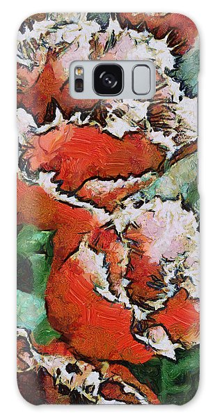 Fringed Tulips Galaxy Case