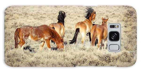 Frisky Mustangs Galaxy Case by Yeates Photography