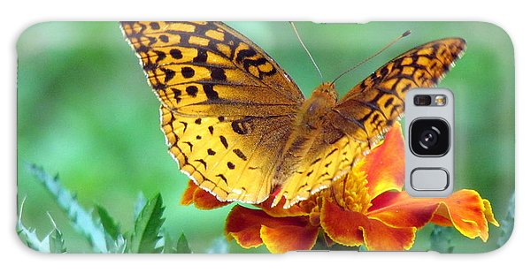 Fritillary On Marigold Iv Galaxy Case