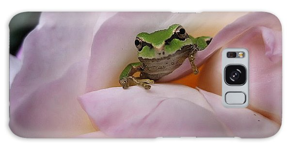 Frog And Rose Photo 1 Galaxy Case