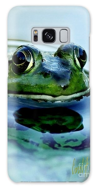 Green Frog I Only Have Eyes For You Galaxy Case