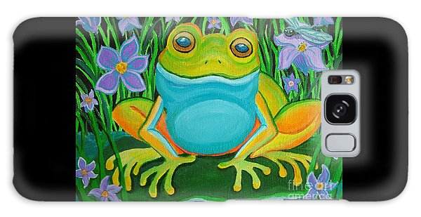 Frog On A Lily Pad Galaxy Case by Nick Gustafson