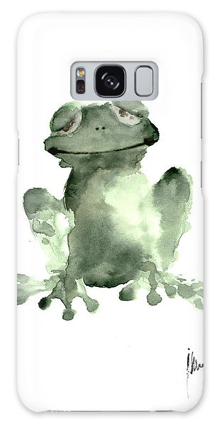 Frog Painting Watercolor Art Print Green Frog Large Poster Galaxy Case