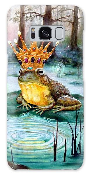 Frog Prince Galaxy Case by Heather Calderon