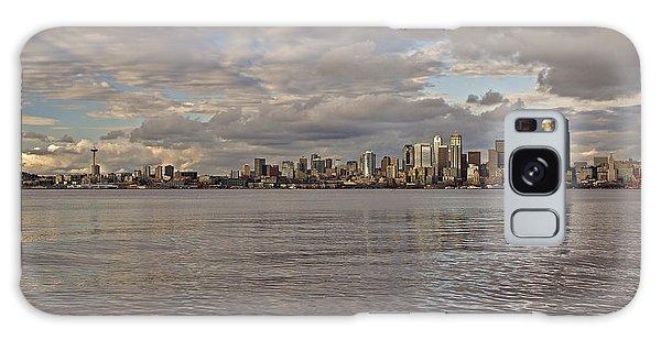 from Alki Beach Seattle skyline Galaxy Case