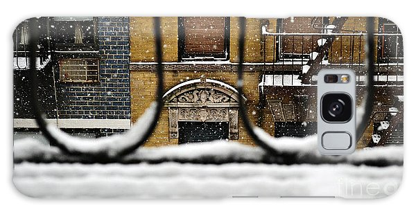From My Fire Escape - Arches In The Snow Galaxy Case by Miriam Danar