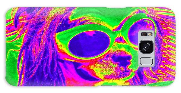 Front Seat Driver Pop Art - Puppy Mania Galaxy Case by Ella Kaye Dickey