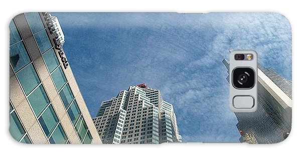Front Stree Down Town Toronto Sky View Through The Hotels Skyscraper Condo  Housing Buildings Water  Galaxy Case