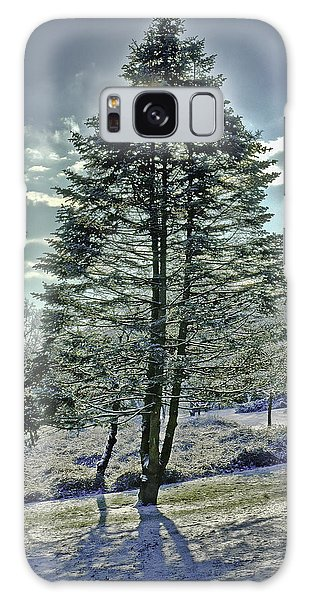Frost On Pine Tree Galaxy Case by Gary Slawsky