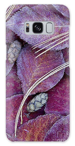 Frosted Leaves Galaxy Case by Alan L Graham