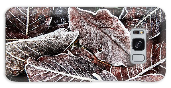 Frosted Leaves Galaxy Case by John Bushnell
