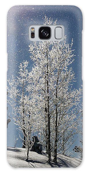 Frosty Colorado Aspen Galaxy Case