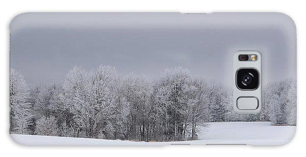 Frosty Farm Fields Galaxy Case