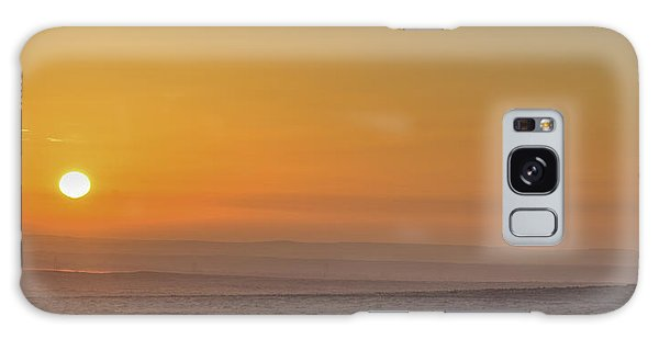 Frosty Ground And Sunset Galaxy Case