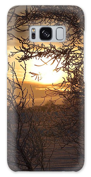 Frosty Sunrise Galaxy Case
