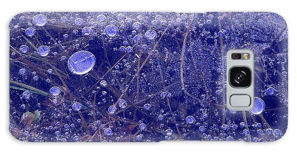 Frozen Bubbles In The Merced River Yosemite Natioinal Park Galaxy Case