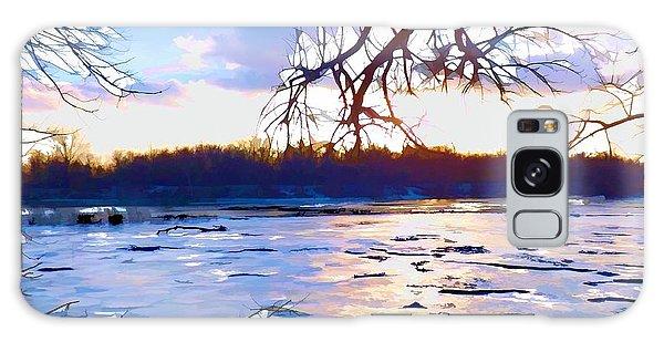 Frozen Delaware River Sunset Galaxy Case