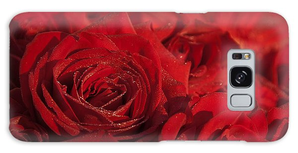 Frozen Dew On Red Roses Galaxy Case