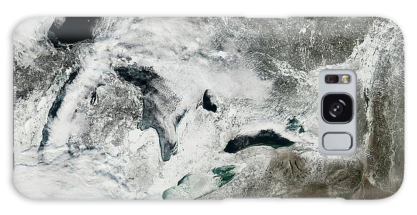 Earth From Space Galaxy Case - Frozen Great Lakes by Nasa Earth Observatory