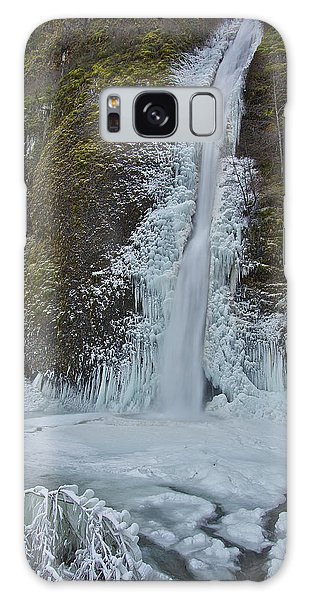 Frozen Horsetail Falls 120813a Galaxy Case