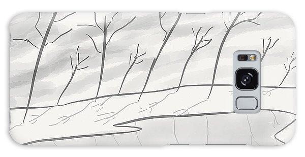 Frozen Landscape Galaxy Case by Stacy C Bottoms