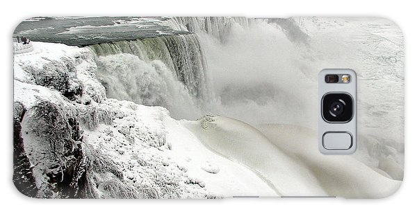 Frozen Niagara And Bridal Veil Falls Galaxy Case
