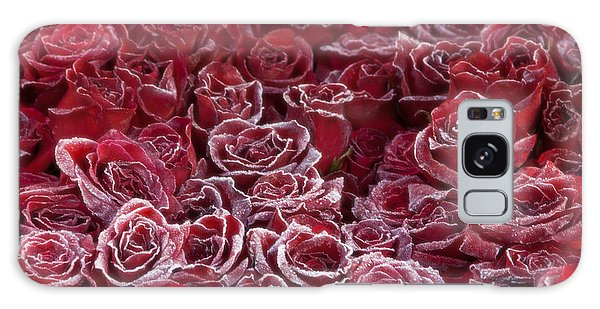 Frozen Tipped Red Roses Galaxy Case