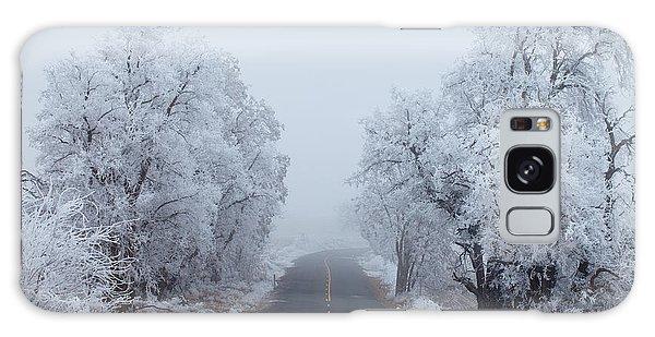 Ice Galaxy Case - Frozen Trees by Darren  White