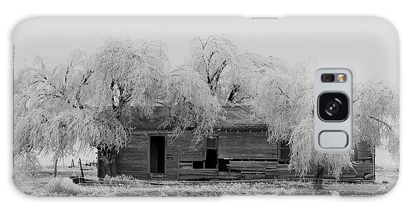 Galaxy Case featuring the photograph Frozen Trees In Black And White by Mae Wertz