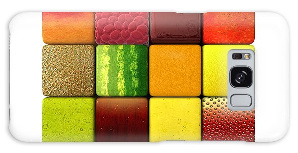 Fruit Cubes Galaxy Case by Allan Swart