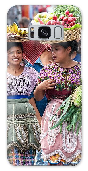 Fruit Sellers In Antigua Guatemala Galaxy Case