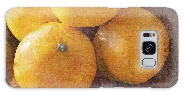 Fruit Still Life Oranges And Antique Silver Galaxy Case