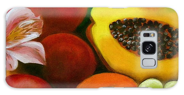 Fruits And Flowers Galaxy Case by Fanny Diaz