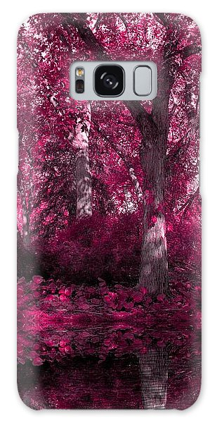 Fuchsia Forest Galaxy Case by Sheena Pike