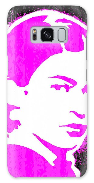 Galaxy Case featuring the mixed media Fuchsia Frida by Michelle Dallocchio