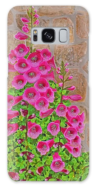 Fuchsia Profusion Galaxy Case by Donna  Manaraze