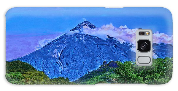 Galaxy Case featuring the painting Fuego Volcano Guatamala by Deborah Boyd