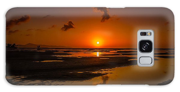 Fuerteventuera Beach Sunrise Reflections Galaxy Case