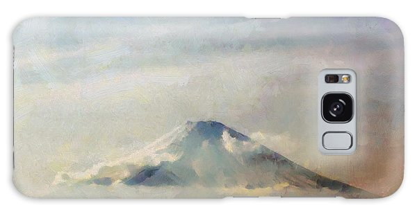 Fuji Among The Clouds Galaxy Case by Kai Saarto