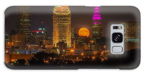 Full Hunter Moon Over Cleveland Galaxy Case