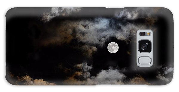 Full Moon After The Storm Galaxy Case