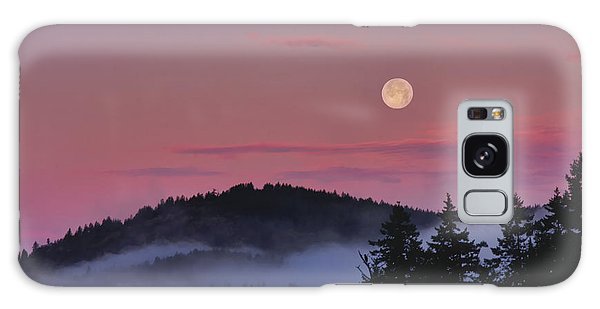 Full Moon At Dawn Galaxy Case by Peggy Collins