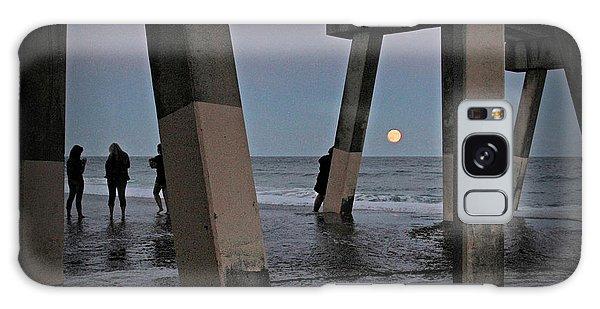 Full Moon At Johnnie Mercer's Pier Galaxy Case