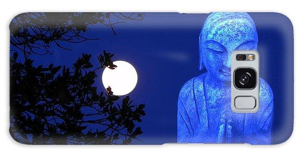 Full Moon Buddha Galaxy Case