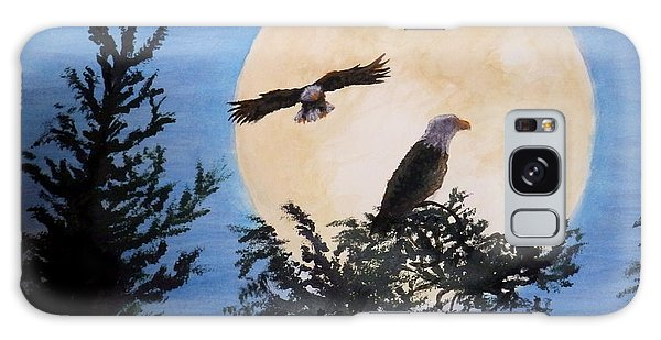 Full Moon Eagle Flight Galaxy Case